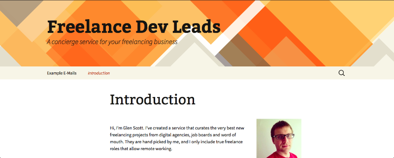 Lead generation for freelance developers