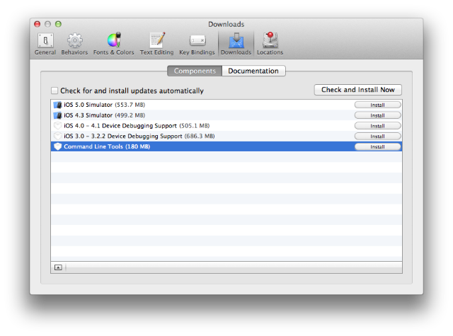Xcode CLI tools installation